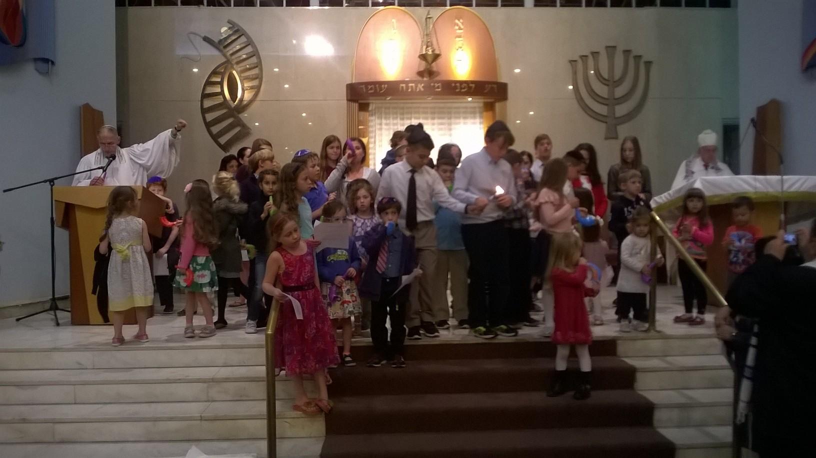 After Yom Kippur services