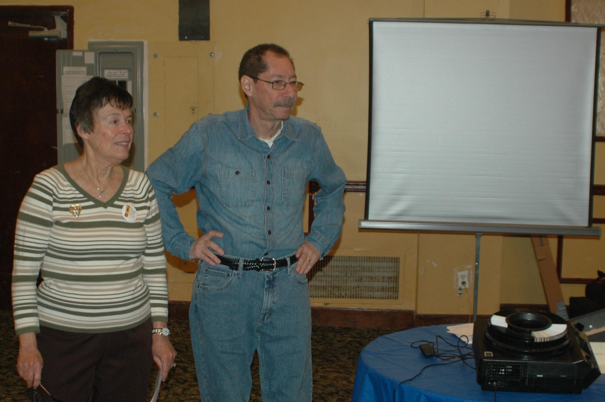 Brunch speaker Ron Schweiger with Chair Marlene Podell