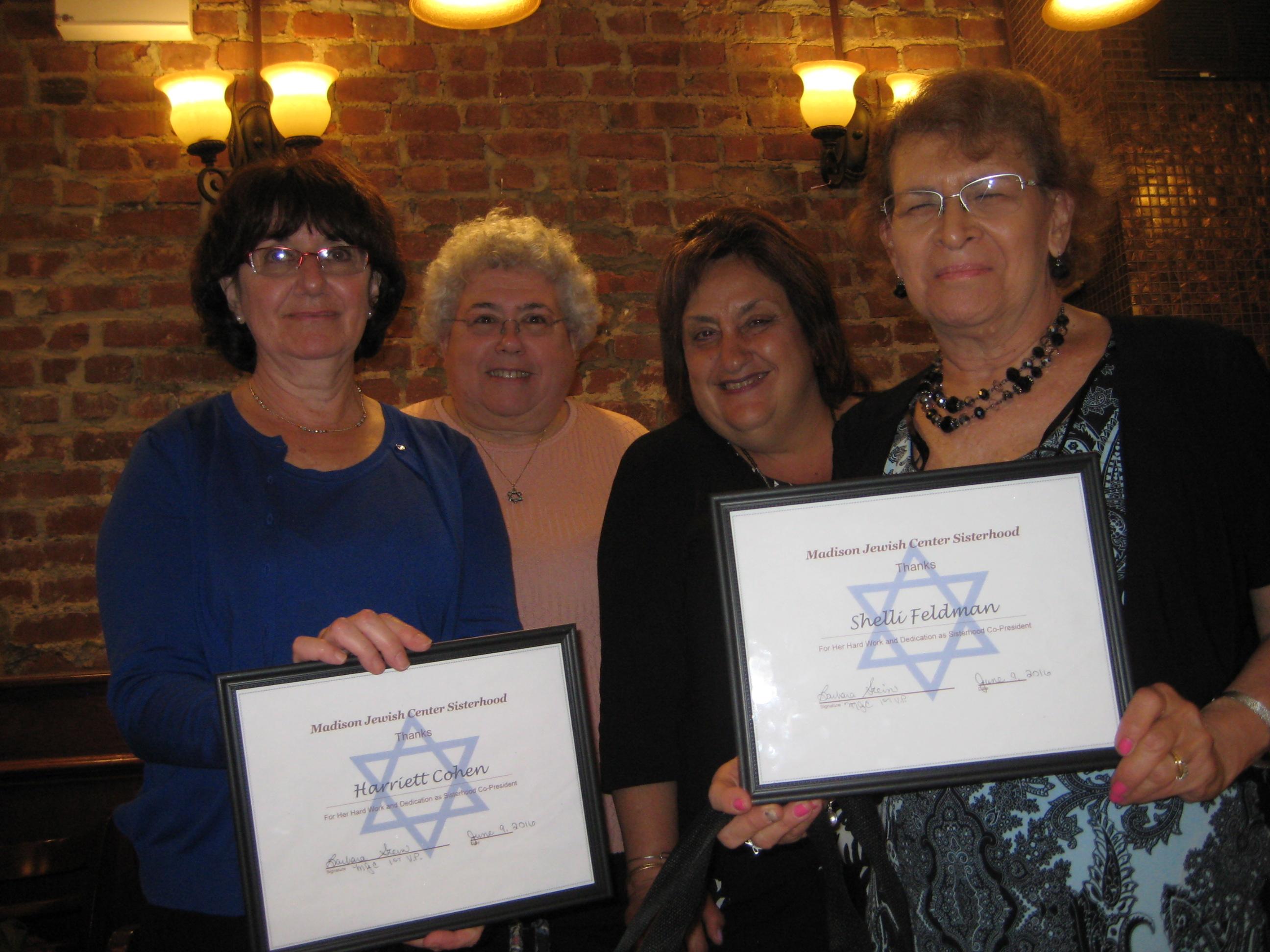 Sisterhood Dinner Honorees