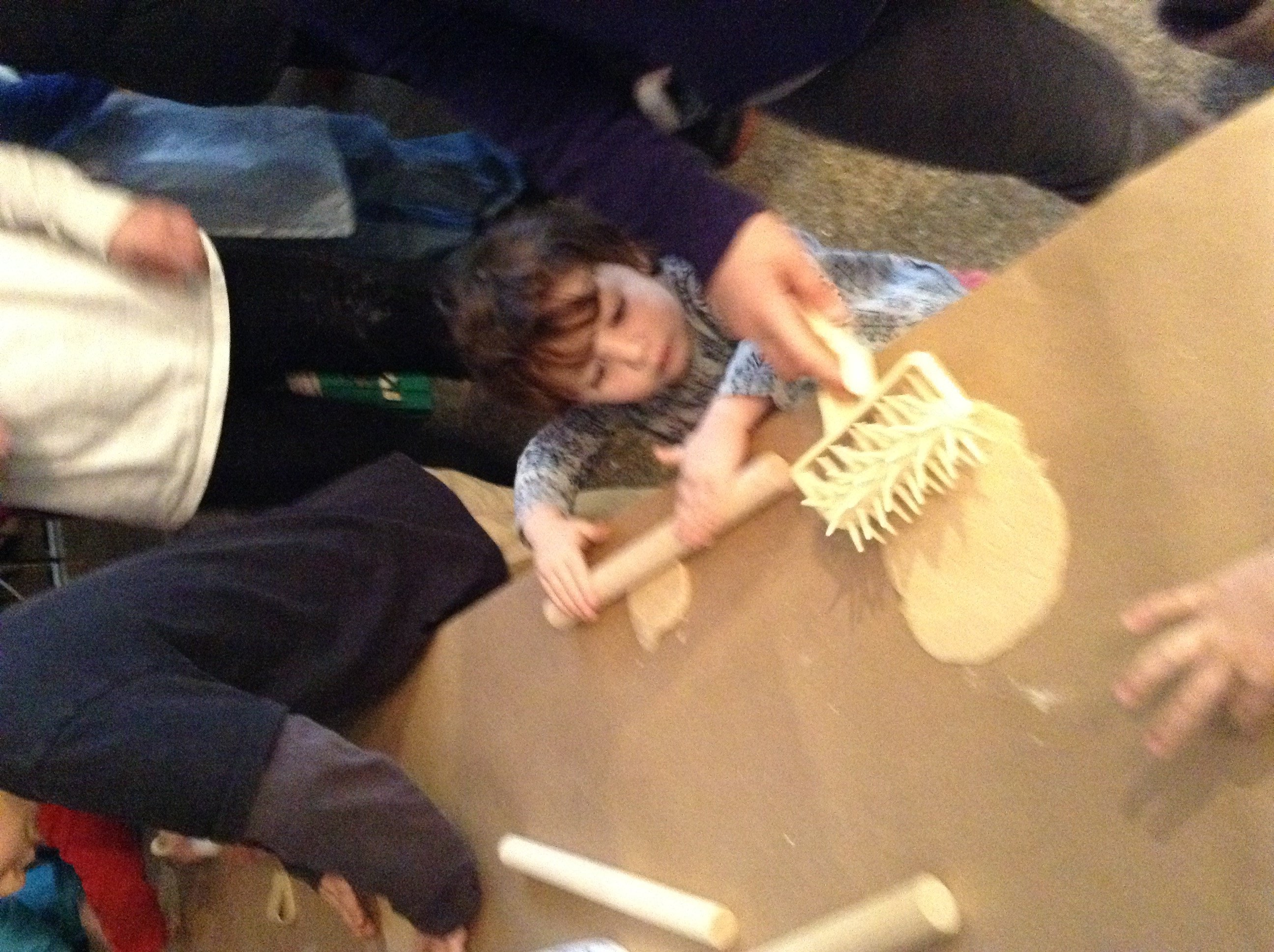 matza factory rolling and making holes